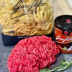 Mince Beef, Pasta Sauce & Tagliatelle