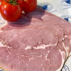 Sliced breaded cooked ham 125g