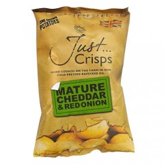 Just Crisps Mature Cheddar & Red Onion 150g