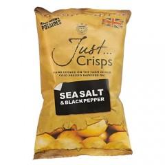 Just Crisps Sea Salt & Black Pepper 150g